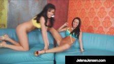 Lustful Lesbians Jelena Jensen & Sandee Westgate Dildo Bang!