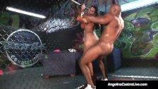 Cuban BBW Angelina Castro Slams BBC In Cage Match!