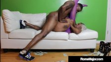 Phat Ass Cherise Rozy Pounded By Black Cock Rome Major!