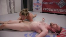 Chad Diamond tries his sneaky moves wrestling against Cheyenne Jewel