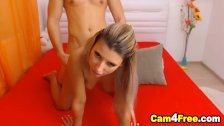 Lovely Blonde Gets Pounded From Behind By Her BF