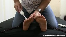 Young stud Aldo restrained for feet tickling torment