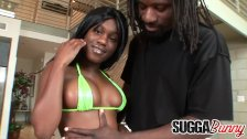 Ebony Sole Dior Makes Him Cum Inside After His BBC Ruins Her Tight Pussy