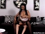 Fucking black maid in stockings