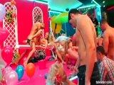 Bi sex dolls gets fucked in the club