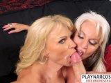 Natural tits Milf Cara Reid aNd Sally D Angelo Gives Handjob Hot Touching