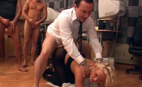 Natasha - Blond Secretary Gangbanged|1,080,573 views