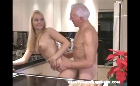 Hot girl sucks old man, swallows his big load|48,689 views