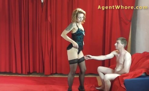 MILF agent whore gives BJ to young long dick|72,581 views
