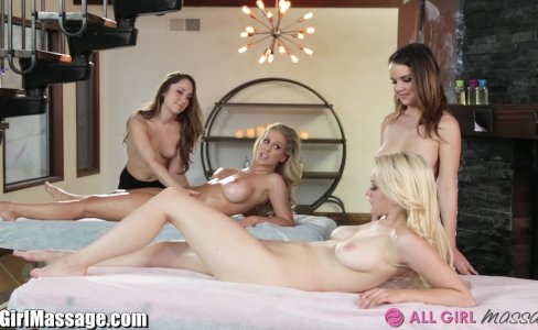 Lesbian Mommy and Daughter Massage Foursome |214,516 views
