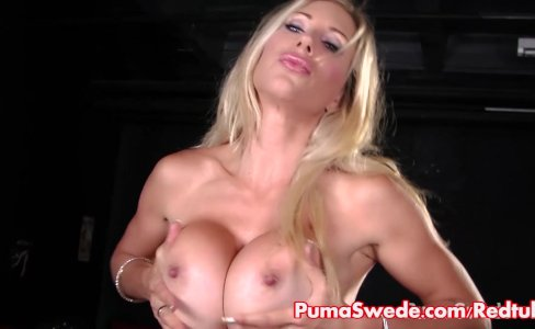 Puma Swede Strips out of Stockings to Cum!|3,104 views