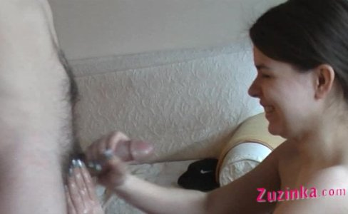 Horny amateur Zuzinka does BJ on casting|106,981 views