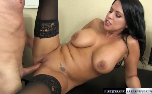 Young Lacie James uses guy with horny fuck|72,680 views