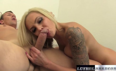 MILF Nina Elle blowjob handjob and titjob|44,988 views