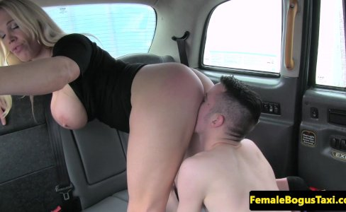 Busty cabbie slut pleasured by male student|5,325 views