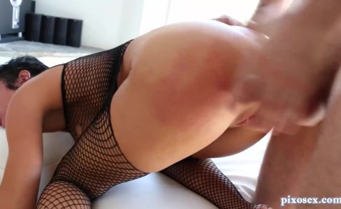 Babe In Fishnets Takes Cock In All Her Holes|2,081,778 views