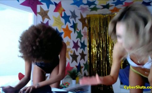 Threesome With Afro And Euro Skinny Teens|36,438 views