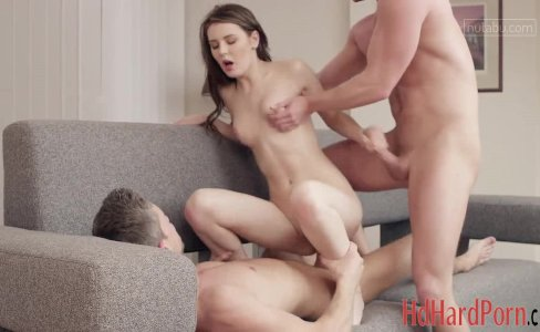 Stunning Timea having fun with two boys at on|2,231 views