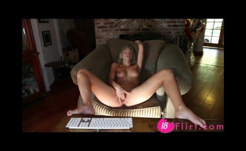 Amazing blond coed Nadia masturbates 18flirt|549 views