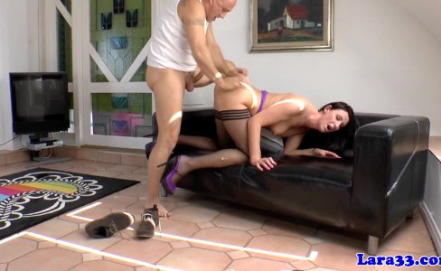 English milf pounded rough on the couch|37,036 views