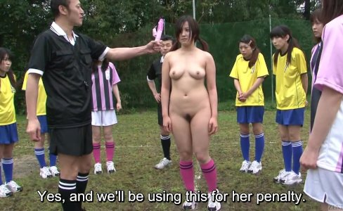 Subtitles ENF CMNF Japanese nudist soccer|30,298 views