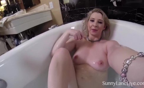 Getting Wet with Sunny Lane in the Tub|2,359 views