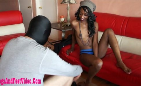 dirty black girl giving footjob and cum on fe|20,223 views