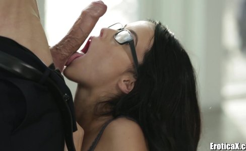 EroticaX Megan Rain Cum Licks The Boss|49,536 views