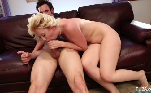 Blonde babe Samantha gets a sexual workout|10,100 views