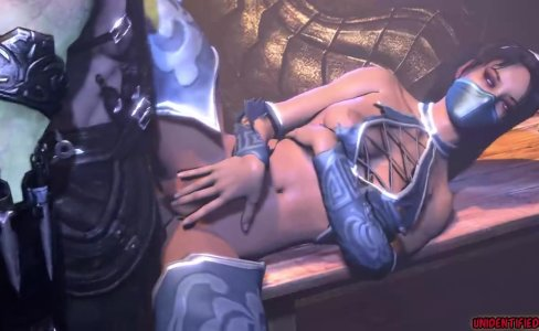 Kitana in MK X and MK 9 have sex|2,054 views