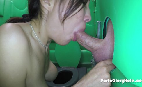 Porta Gloryhole Milf hones her BJ skills in p|40,580 views