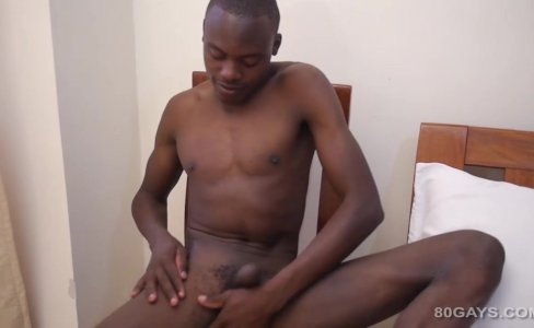 Black African Twink Dubaku Jerks Off|2,655 views
