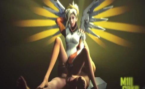 Mercy and Evil Mercy in Overwatch have sex|21,893 views