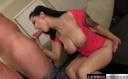 Katrina Jade gets a rough fuck cum on tits|33,265 views