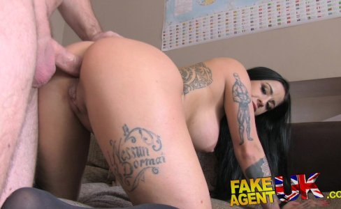 FakeAgentUK Hot brunette has a tight arsehole|45,165 views