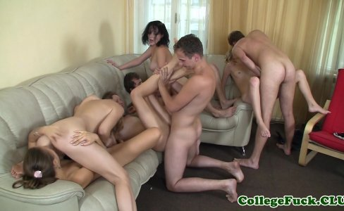 Cumloving freshmen in sticky hotel orgy|92,377 views