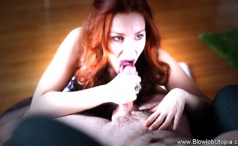 Redhead MILF Finest Blowjob Ever|12,631 views