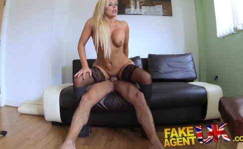 FakeAgentUK Sexy blonde MILF gets a good fucking in hardcore porn interview|66,328 views