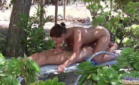 Busty young girlfriend big old cock outdoor anal fuck doggy style|46,204 views