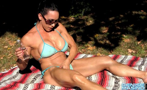 Denise Masino - Bathe Me In the Sun - Female Bodybuilder|35,974 views