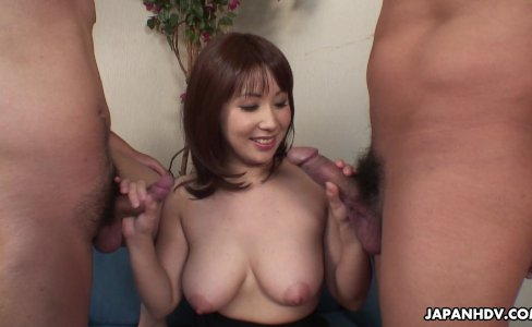 Asian slut has a pair of dicks to blow on|20,244 views