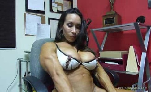 Denise Masino - Huge Nipples and Clit - Female Bodybuilder|65,510 views