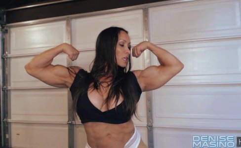 Denise Masino - My Sweaty Workout Video - Female bodybuilder|24,018 views