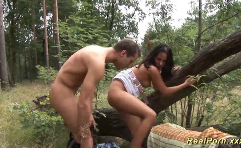 german teen banged in the forest|84,773 views