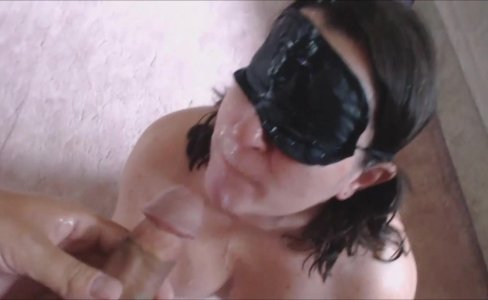 Brunette With a Mask Gets a facial|103 views