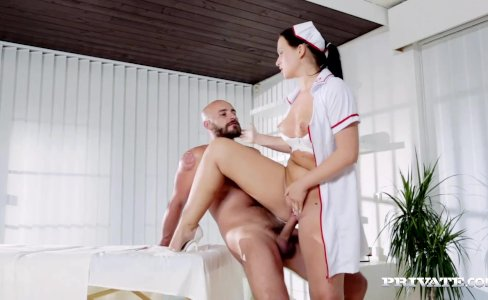 Naughty Natalee Nurses a Hard Cock|29,274 views