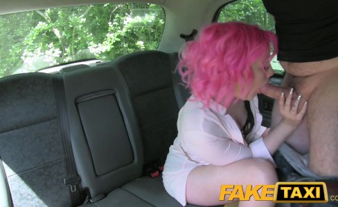Fake Taxi Pink hair n wet pussy gets hammered|164,314 views