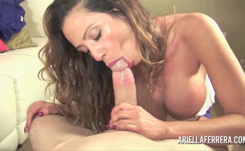 Ariella Ferrera sucks and fucks a potential assistant to see if he measures|15,894 views