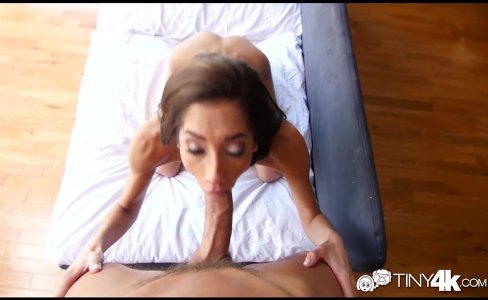 Tiny4K - Skinny Chloe Amour takes a dick deep in her pussy|50,416 views