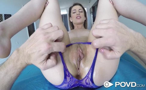 POVD - Petite Kristen Scott shows off her sex skills POV style|43,014 views